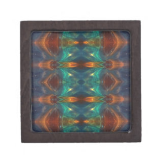 Echoes From the Depths.Abstract Digital Art Design Premium Gift Box