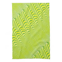 Echoes in Lemon and Lime Hand Towel