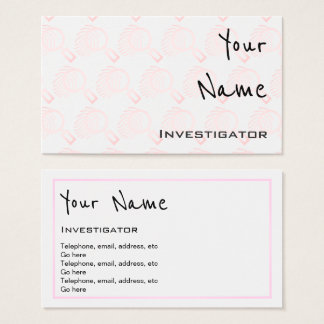 """""""Echoes"""" Investigator Business Cards"""