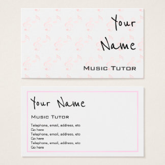 """""""Echoes"""" Music Tutor Business Cards"""