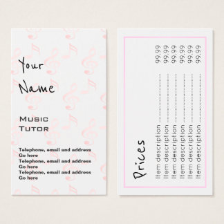 """""""Echoes"""" Music Tutor Price Cards"""
