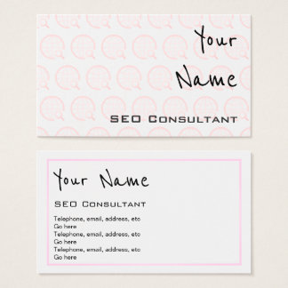 """""""Echoes"""" SEO Consultant Business Cards"""
