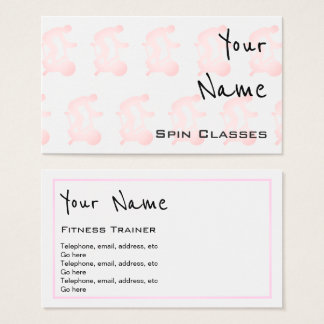 """Echoes"" Spin Classes Business Cards"