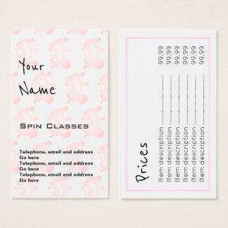 """Echoes"" Spin Classes Price Cards"