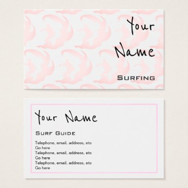 "Professional Business ""Echoes"" Surfing Business Cards"