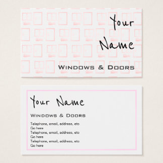 """""""Echoes"""" Windows and Doors Business Cards"""