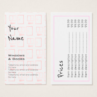 """""""Echoes"""" Windows and Doors Price Cards"""