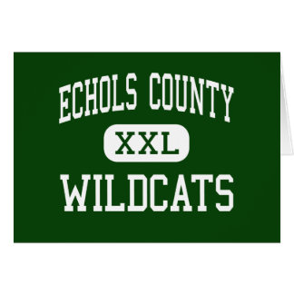 Echols County - Wildcats - High - Statenville Card