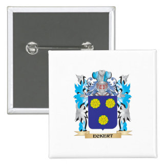 Eckert Coat of Arms - Family Crest Pinback Buttons