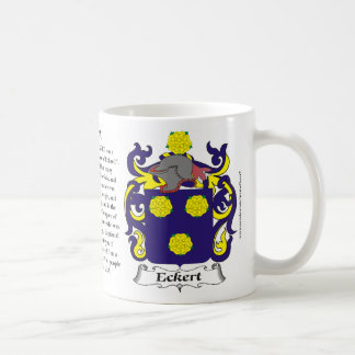 Eckert, the Origin, the Meaning and the Crest Classic White Coffee Mug