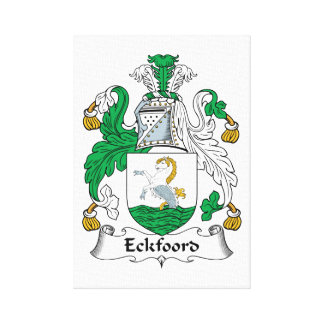 Eckfoord Family Crest Stretched Canvas Print