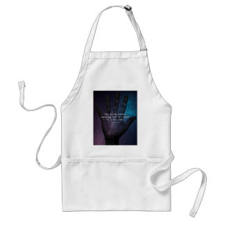 Eckhart Tolle Universe Quote Adult Apron