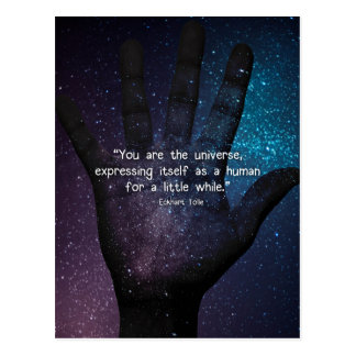Eckhart Tolle Universe Quote Postcard