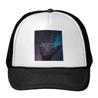 Eckhart Tolle Universe Quote Trucker Hat