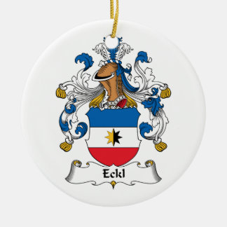 Eckl Family Crest Christmas Ornaments
