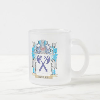 Eckles Coat of Arms - Family Crest 10 Oz Frosted Glass Coffee Mug