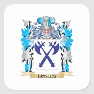 Eckles Coat of Arms - Family Crest Square Stickers