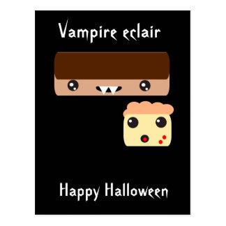 "Eclair ""feliz Halloween "" del vampiro Tarjeta Postal"