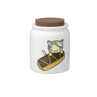 Eclair Kitty Candy Dish