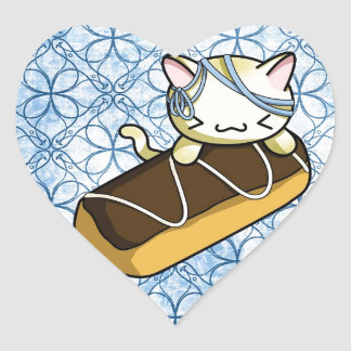 Eclair Kitty Heart Sticker