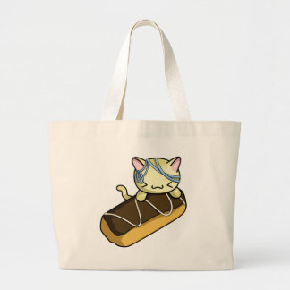Eclair Kitty Large Tote Bag