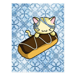 Eclair Kitty Postcard