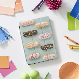 Eclairs with ganache and toppings iPad air cover