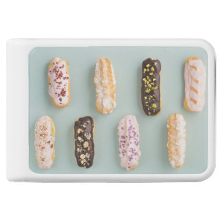 Eclairs with ganache and toppings power bank