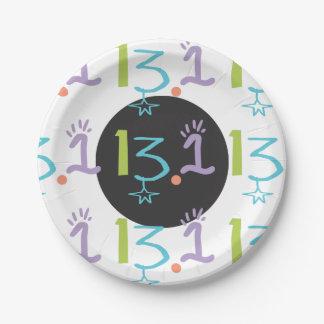 Eclectic 13.1 Half Marathon Themed Paper Plate