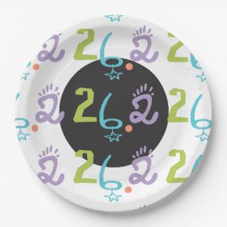 Eclectic 26.2 Marathon Paper Plates Party Supplies