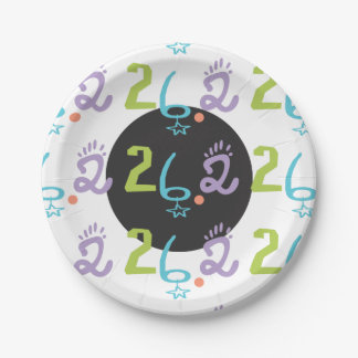 Eclectic 26.2 Marathon Paper Plates Party Supplies 7 Inch Paper Plate