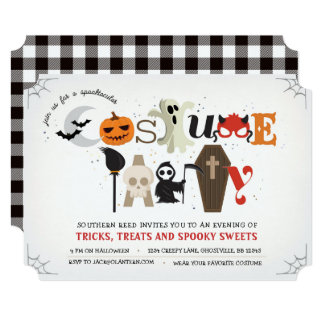 Eclectic Halloween Party Invitation