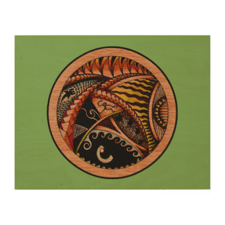 Eclectic Oceania Two Wood Wall Art