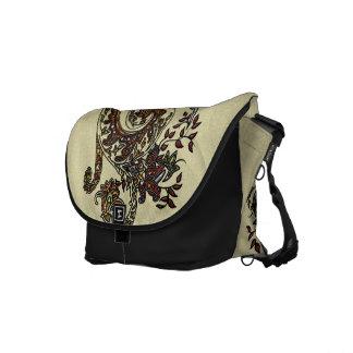 Eclectic Paisley Boho Gems Courier Bag