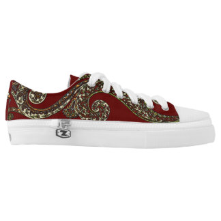 Eclectic Paisley Boho Gems Low-Top Sneakers