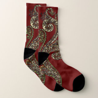 Eclectic Paisley Boho Gems Socks
