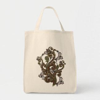 Eclectic Paisley Boho Gems Tote Bag