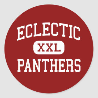 Eclectic - Panthers - Middle - Eclectic Alabama Classic Round Sticker
