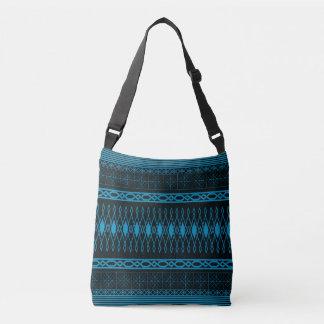 Eclectic Pattern (blue) Crossbody Bag