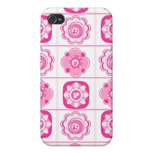 Eclectic Pink Flowers iPhone4 Case iPhone 4 Cases