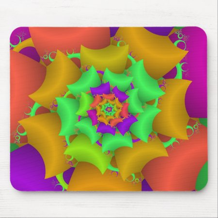 Eclectic Rose Fractal Mouse Pad
