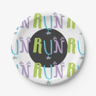 Eclectic RUN Paper Plate