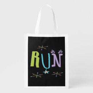 Eclectic RUN Reusable Grocery Bag