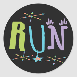 Eclectic RUN Runner Sticker Gift