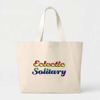 eclectic solitary large tote bag
