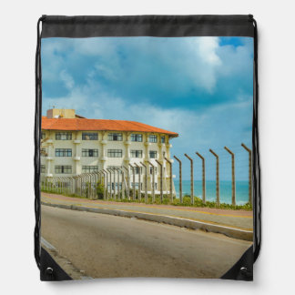 Eclectic Style Building Natal Brazil Drawstring Bag