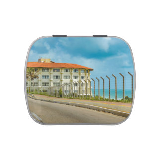 Eclectic Style Building Natal Brazil Jelly Belly Tin