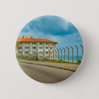 Eclectic Style Building Natal Brazil Pinback Button