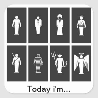 eclectic Today i'm… Square Sticker