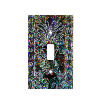 Eclectic Vintage Stained Glass Uncommon Design Light Switch Cover
